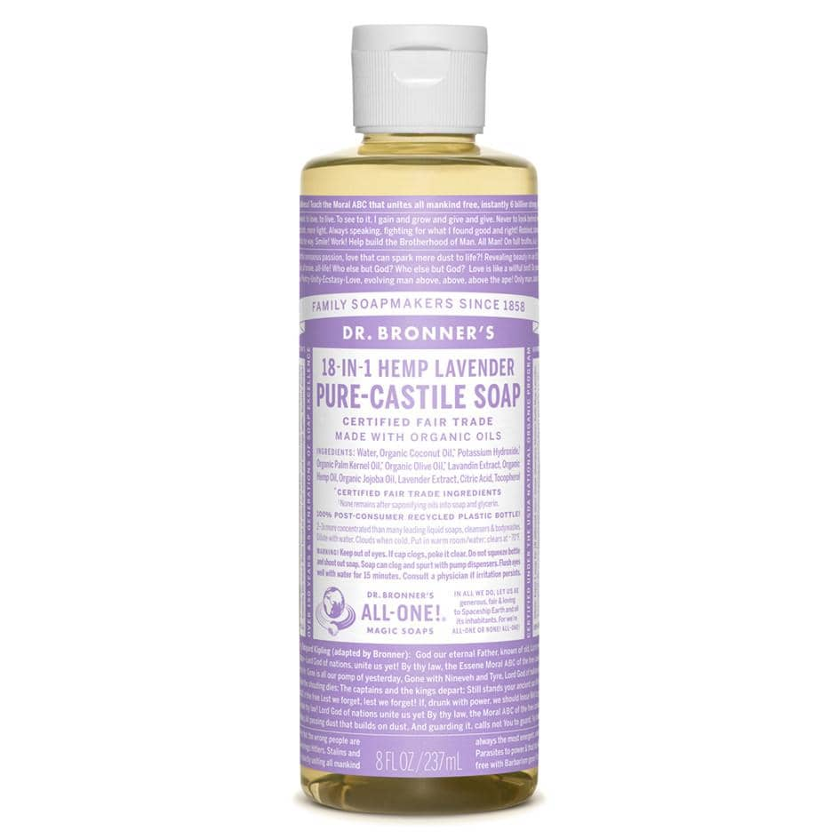 Dr Bronners - 18 in 1 Pure Castile Liquid Soap - Lavender (237ml)