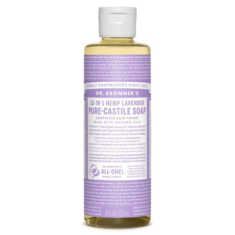 Dr Bronners 18 in 1 Pure Castile - Lavender Liquid Soap 237ml