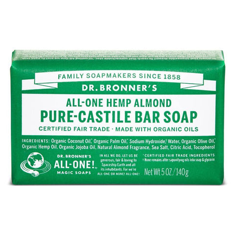 Dr Bronners - Castile Soap Bar - Almond (140g)