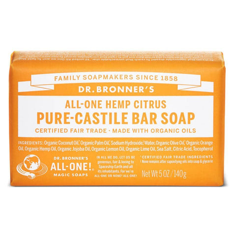 Dr Bronners - Castile Soap Bar - Citrus (140g)