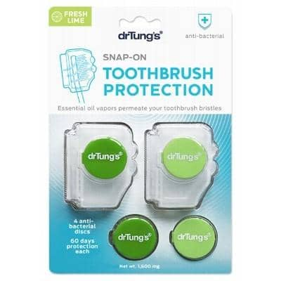 Dr Tung's - Snap-On Toothbrush Protection (with 2 Refills)