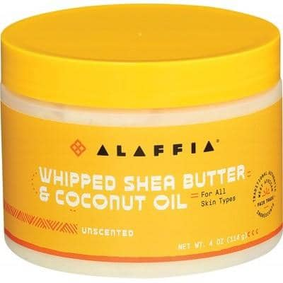 Alaffia - Whipped Shea Butter and Coconut Oil - Unscented (114g)