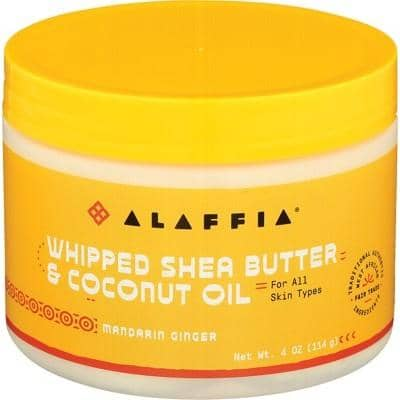 Alaffia - Whipped Shea Butter and Coconut Oil - Mandarin Ginger (114g)