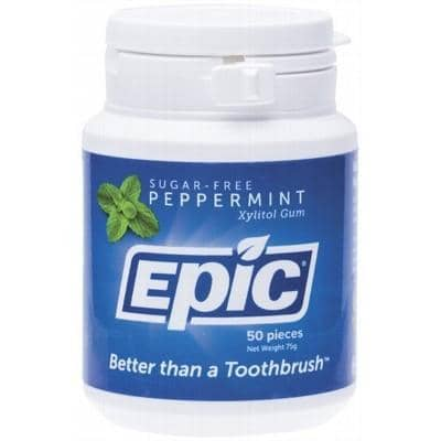 Epic - Xylitol Chewing Gum - Peppermint (50)