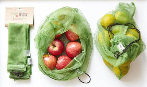 Fruity Sacks - Reusable Fruit and Vegetable Bags (3 pack)