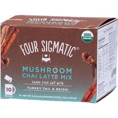 Four Sigmatic - Mushroom Chai Latte Mix with Turkey Tail and Reishi (10 x 6g)