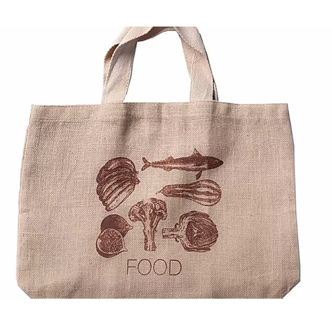 Apple Green Duck - Jute Grocer Bag - Bronze Food