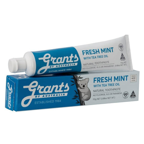 Grants - Natural Toothpaste - Fresh Mint (110g)