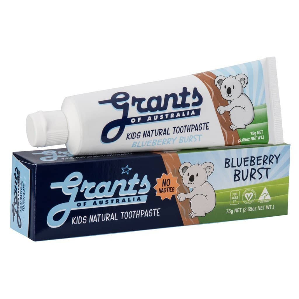 Grants - Kids Natural Toothpaste - Blueberry Burst (75g)