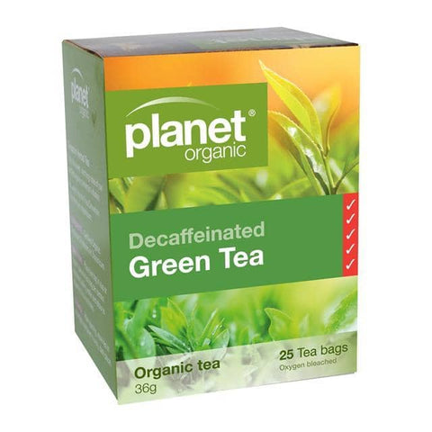 Planet Organic - Herbal Tea Bags - Decaffeinated Green Tea (25 Pack)