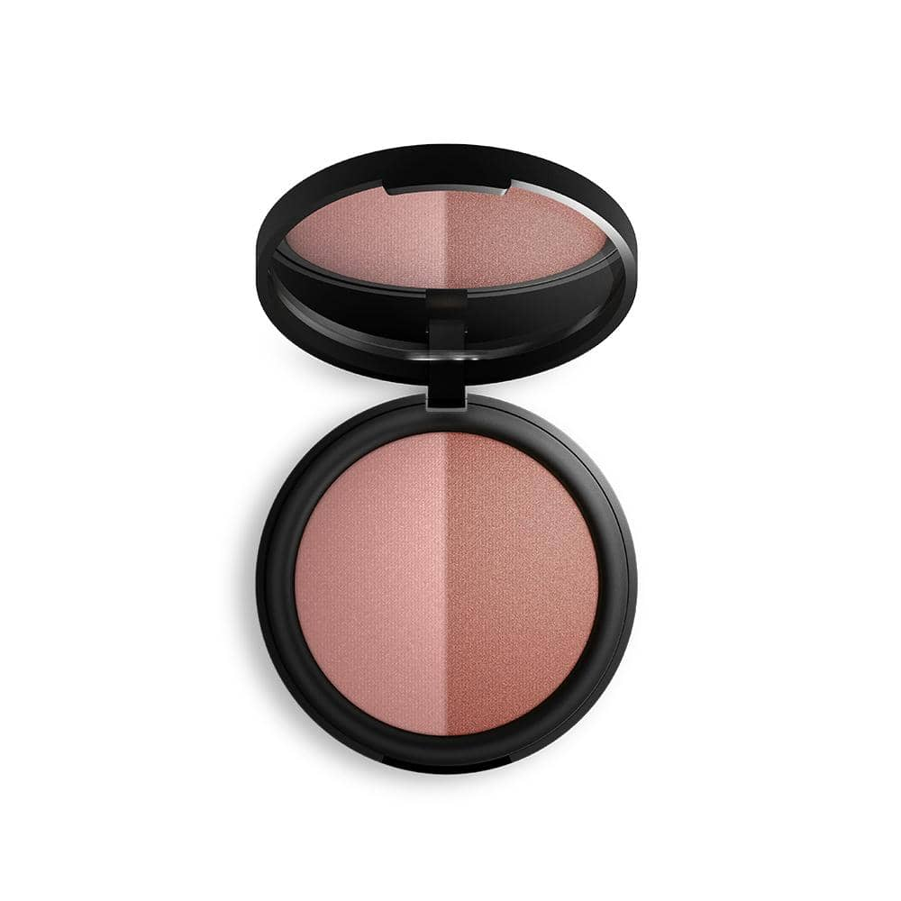 Inika Organic - Baked Blush Duo - Burnt Peach (6.5g)