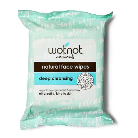 Wotnot - Natural Face Wipes - Deep Cleansing (25 pack)