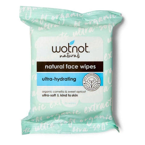 Wotnot - Natural Face Wipes - Ultra-Hydrating (25 pack)