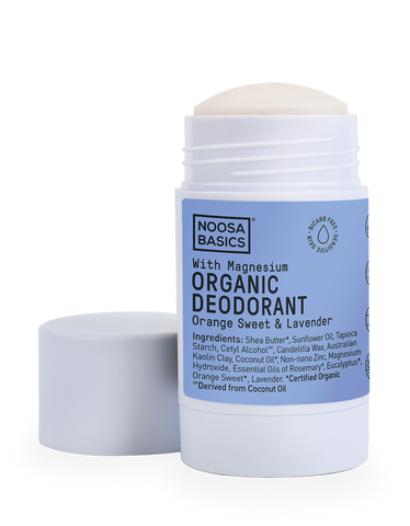 Noosa Basics - Organic Bicarb-Free Deodorant Stick with Magnesium - Orange Sweet and Lavender (60g)