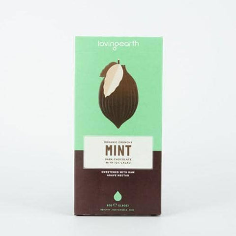Loving Earth - Chocolate - Crunchy Mint (80g)