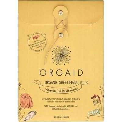 Orgaid - Sheet Mask - Vitamin C and Revitalising (4x24ml)
