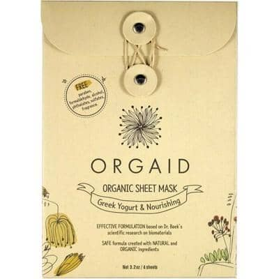 Orgaid - Sheet Mask - Greek Yogurt and Nourishing (4x24ml)