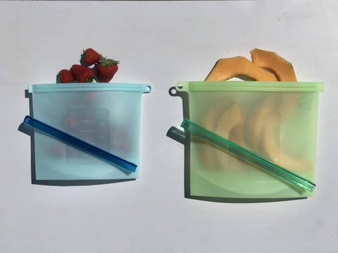 Bare & Co. - Reusable Silicone Food Bags - 2 Pack