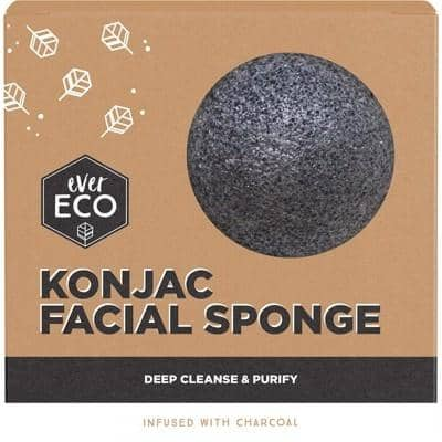 Ever Eco - Konjac Facial Sponge - Charcoal