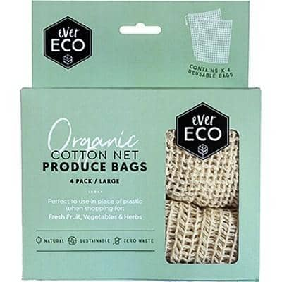 Ever Eco - Organic Cotton Produce Bags - Net (4 pack)