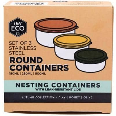 Ever Eco - Round Nesting Containers - Autumn Collection (Set of 3)