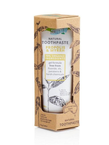 The Natural Family Co. - Natural Toothpaste - Proplis & Myrrh (100g)