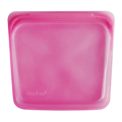 Stasher - Plastic-Free Sandwich Bag - Raspberry