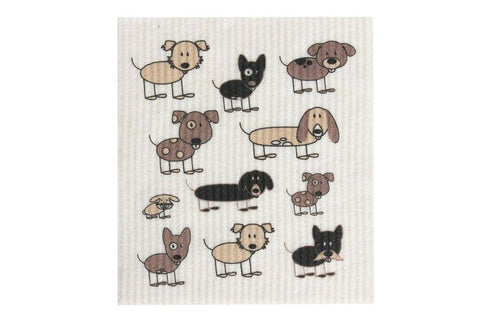 Retro Kitchen - Biodegradable Dish Cloth - Dogs