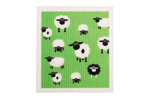 Retro Kitchen - Biodegradable Dish Cloth - Sheep