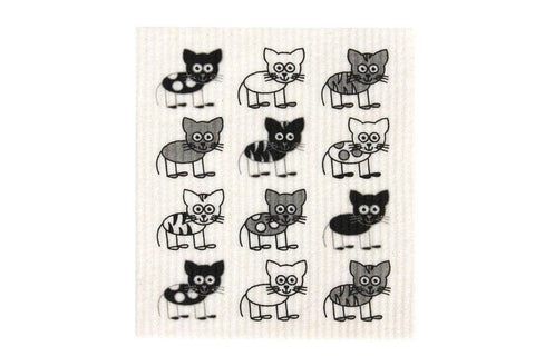 Retro Kitchen - Biodegradable Dish Cloth - Cats