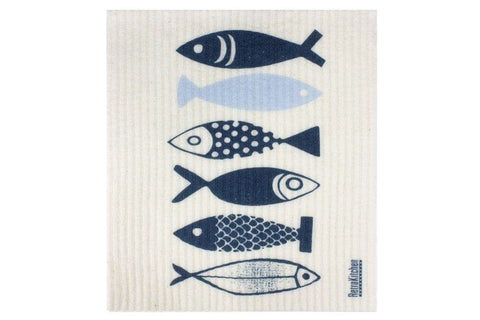 Retro Kitchen - Biodegradable Dish Cloth - Fish