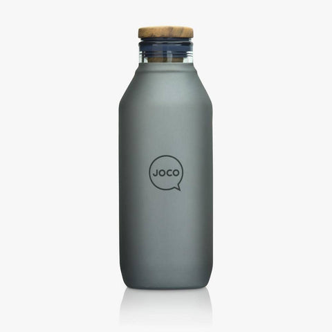 JOCO - Reusable Velvet Grip Drinking Flask - Black (600ml)
