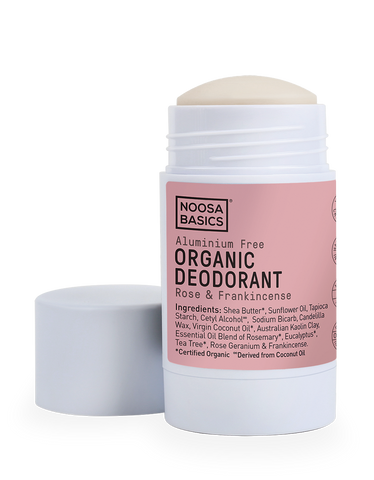 Noosa Basics - Organic Deodorant Stick - Rose and Frankincense (60g)