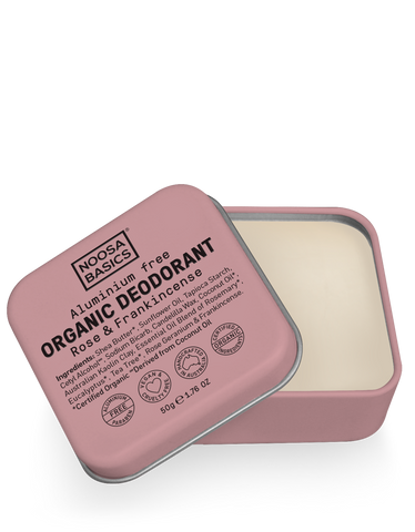 Noosa Basics - Organic Deodorant Tin - Rose and Frankincense (50g)