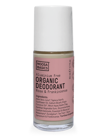 Noosa Basics - Organic Deodorant Roll-On - Rose and Frankincense (50g)