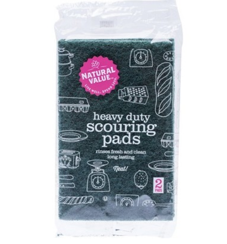 Natural Value - Heavy Duty Scouring Pads (2 Pack)