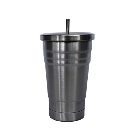 Bare & Co. - Kids Insulated Drink Tumbler - Silver (250ml)
