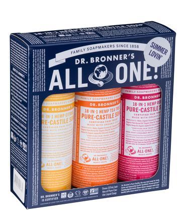 Dr Bronner's - Liquid Soap Multi-Pack - Summer Lovin'