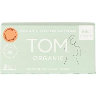 TOM Organic - Organic Cotton Tampons - Regular (32 pack)