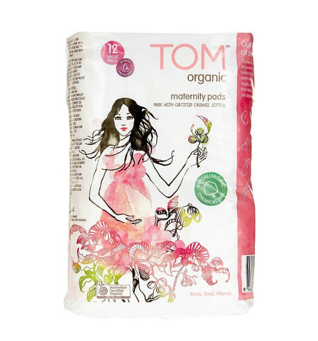 TOM Organic - Super Soft Maternity Pads - 12 pack