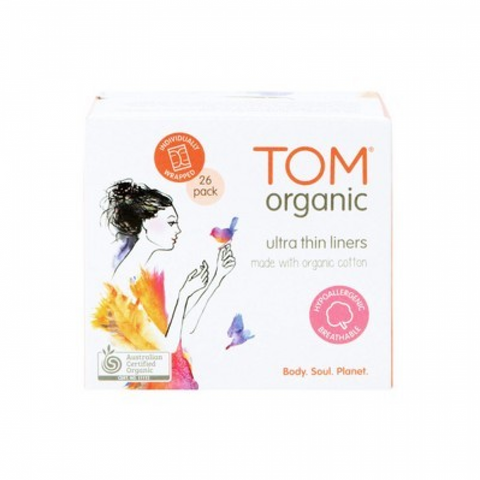 TOM Organic - Organic Cotton Ultra Thin Liners - Panty Liners (26 Pads)