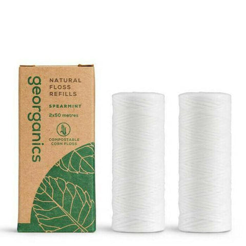 Georganics - Natural Dental Floss Refills - Spearmint (2x50m)