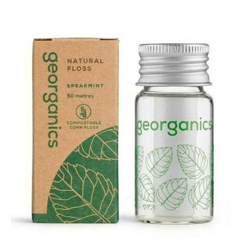 Georganics - Natural Dental Floss with Dispenser - Spearmint (50m)