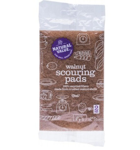 Natural Value - Walnut Scouring Pads (2 Pack)