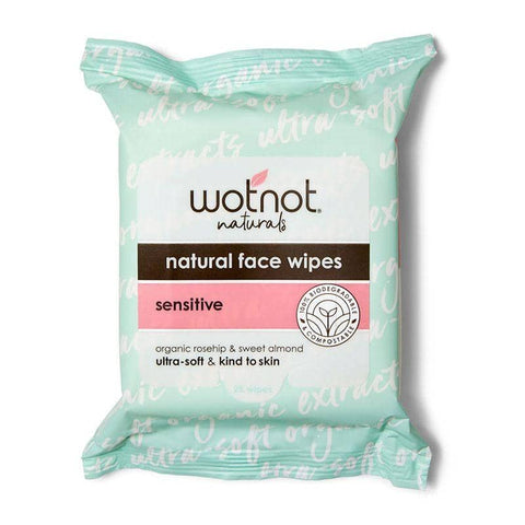 Wotnot - Natural Facial Wipes - Sensitive (25 pack)