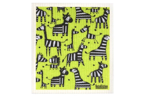 Retro Kitchen - Biodegradable Dish Cloth - Zebra