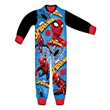 Boys Spiderman Micro Fleece Onesies 1.5 to 5 Years - Character Direct