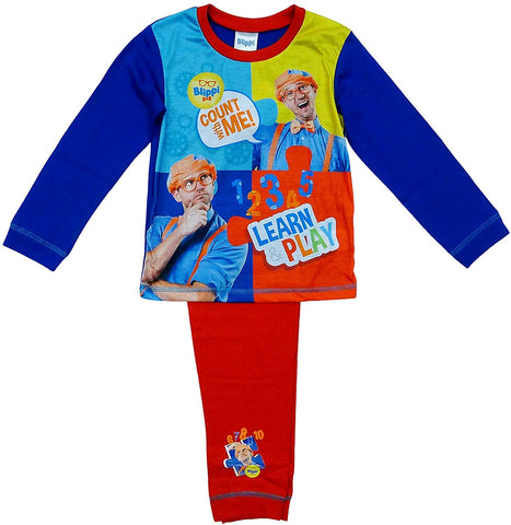 Boys Pyjamas Blippi Pjs Count With Me Pajamas