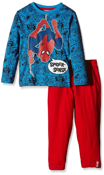 Marvel Spiderman Boys Long Length Novelty Dress Up detachable Hood Pyjama 3-8 Years - Character Direct