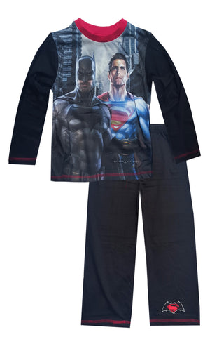 Boys Batman Vs Superman Long Length Pyjamas Age 4 to 10 Years - Character Direct